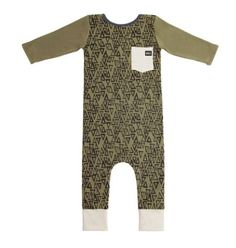 4b53ec05457 Rags to Raches 3 4 Sleeve Pocket Romper in Green