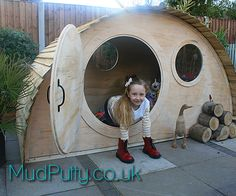 Hobbit Hidey gat Playhouse tuin Den
