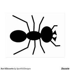 Het Silhouet van de mier Briefkaart Ants, Insects, Letters, Silhouette, Animals, Black, Animales, Animaux, Black People