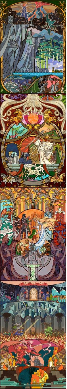 LOTR stained glass.... Oh. My. LORD! pun intended and I need to make something like this it's awesome!!!