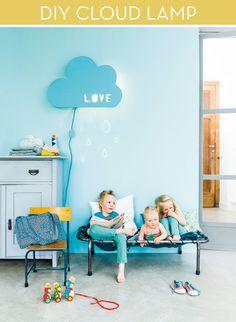 Make It: Kid-Friendly DIY Cloud Lamp » Curbly | DIY Design Community - make a heart shape instead