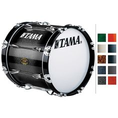 Tama Marching Maple Bass Drum Titanium Silver Metallic 14x22