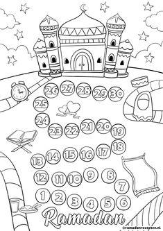 FREE PRINTABLE | 6 Ramadan coloring sheets for kids | 6 Ramadan kleurplaten voor kinderen | Ramadanrecepten.nl