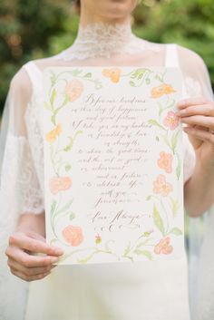 Have your #Vows Hand-Calligraphied to frame - by LauraLavender.com | Photo: MelissaGidneyphoto.com