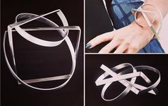 The ORBIT bangle #geometricjewelry  #contemporaryjewellery #statementbangle #entanglement by deelyndesign