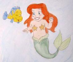 Ariel meets Flounder by Chatelier.deviantart.com