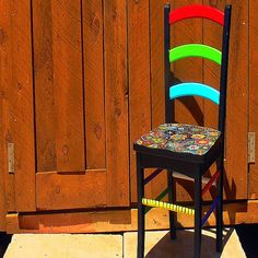 Hand painted funky chairs