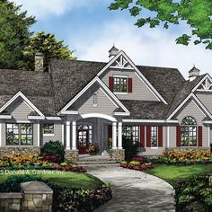 plan of the week the chesnee 1290 open layout craftsman and house