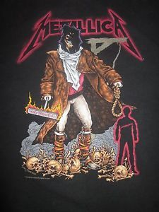 Metallica Unforgiven Vintage Heavy Metal Concert T-Shirt Adult XL Size: Adult XL Free Shipping in the U.S.
