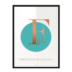 Køb denne fantastiske typografiske perle af en plakat fra Martin Moore - Typo København Frederiksberg. Hos Designfund finder du de lækreste plakater.