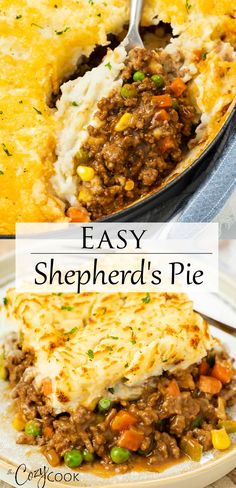 This is the BEST Shepherd's Pie recipe when you need an easy dinner idea with ground beef. It makes a great freezer meal too! Dinner Recipes Easy Quick, Quick Easy Meals, Recipes Dinner, Easy Pie, Easy Dinners, Mince Dinner Ideas, Dinner Ideas With Hamburger, Bbq Dinner Ideas, Easy Dinner For Two