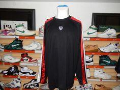 Nike Dri Fit Basketball Hoops Long Sleeve Shirt Thick HEAVY Mesh Top Black Red #Nike #BaseLayers