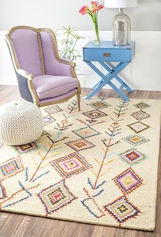 LOVE THIS RUG!!  Cotto Marbella Belini Area Rug - $212.99 for a 5'x8' at All Moodern  13 Beautiful Beni Ourain-Style Rugs Under $300 — Annual Guide 2016