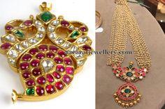Basara Pearl Mala with Kundan Locket - Jewellery Designs