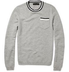 rag & bone crewneck sweater. perfect mix of preppy/edgy