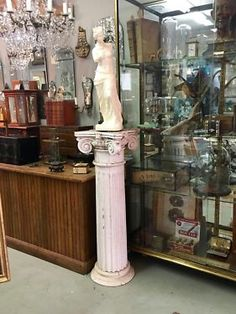"Architectural Pillar or Column   Great as Stand, Display or Table Base   15"" Square x 45"" High  $225  Country Garden Antiques 147 Parkhouse  Dallas, TX 75207  Read our blog: http://country"