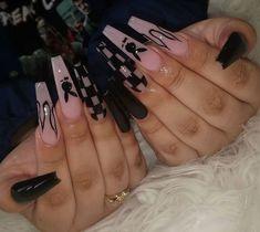Drip Nails, Bling Acrylic Nails, Acrylic Nails Coffin Short, Simple Acrylic Nails, Best Acrylic Nails, Acrylic Nail Designs, Pink Nails, Simple Nails, Dope Nail Designs