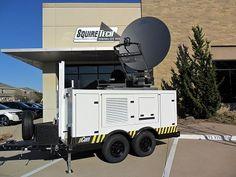 emergency response satellite trailer on truck