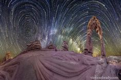 Warped Sky: Star Trails over Arches National Park