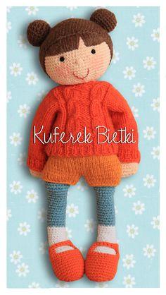 Kuferek Bietki: Pippina - lalka na szydełku/ Pippina, Gehäkelte Puppe/ Pippina, crochet doll