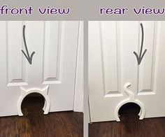 Pets Home Interior Cat Door hole Sharing is caring, don't forget to share ! Apartment Furniture, Cat Furniture, Furniture Layout, Unique Furniture, Painted Furniture, Cat Apartment, Cat Ideas, House Ideas, Cat Playground