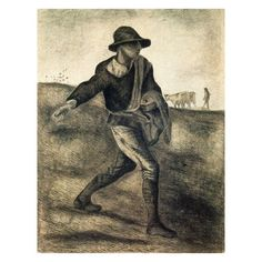 A Sower (after Millet) Oil Painting for sale on overArts.com