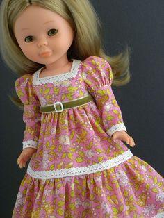 Nancy's new pink dress Vestidos Nancy, Pink Dress, Flower Girl Dresses, Nancy Doll, Spanish Girls, 18 Inch Doll, Little Darlings, Couture, Fashion Dolls