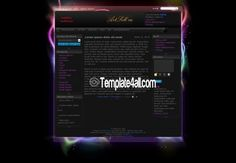 Abstract Black Phpfusion Theme - Phpfusion Themes #phpfusion #black #phpfusionthemes