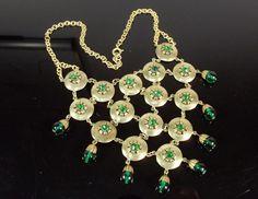 Art Deco Etruscan Revival Bib Necklace