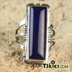 High Quality Deep Blue Lapis Ring by Eddie Secatero 9 - Turquoise Skies