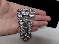 EISENBERG ORIGINAL Signed Sparkling Ice Dress Clip!  Rare Piece!