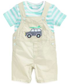 First Impressions Baby Boys' 2-Piece Tee & Shortall Set - Kids Baby Boy (0-24 months) - Macy's