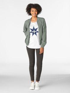 'Eureka Flag' Premium Scoop T-Shirt by hitpointer Eureka Flag, Young T, Tshirt Colors, Cap Sleeves, Looks Great, Fitness Models, Shirt Designs, Scoop Neck, Bomber Jacket