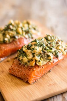 Shrimp and Spinach Stuffed Salmon