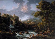 Jan Frans van Bloemen -A Scene in the Roman Campagna, (ca. 1736)