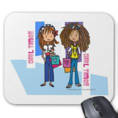 Girl Time mouse pads for home and office! www.zazzle.com/shopmisso/mousepads #shopmisso