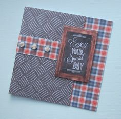 Card designed by Kath Woods using the Man Made Collection by Craftwork Cards