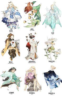 Kimono Disney Princesses Art Would Be Stunning As Cosplay