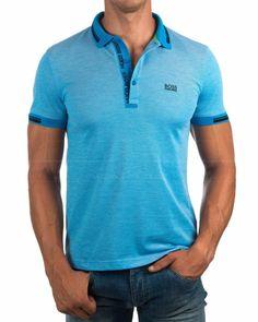 Polos Hugo Boss Azul - Paule 4 Hugo Boss Shirts, Polo T Shirts, Athleisure, Lacoste, Active Wear, Polo Ralph Lauren, Fashion Looks, Mens Fashion, Tees