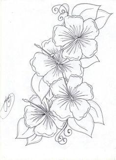 Hibiscus template