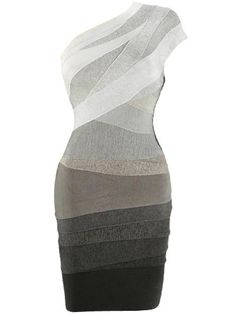 Sexy One Shoulder Ombre Bodycon Bandage Celebrity Dress . Shop Now At http://misscircle.com/Dresses/Bandage-Dress/One-Shoulder/Sexy-One-Shoulder-Ombre-Bodycon-Bandage-Celebrity-Dress.html