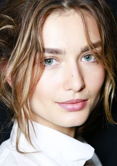 Andreea Diaconu - fresh faced with bold brows #beauty #model #hair #eyebrows
