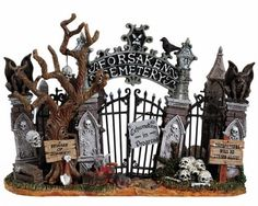 LEMAX Spooky Town Collectibles: Cemetery Gate #43421