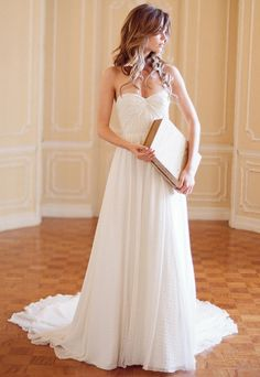 Sweetheart organza wedding dress...love how light and flowy this is