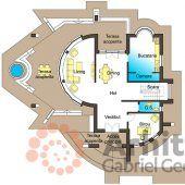 Casa cu etaj 54 | Proiecte de case personalizate | Arhitect Gabriel Georgescu & Echipa Modern House Facades, Modern Architecture, Luxury House Plans, Facade House, Design Case, House 2, Simple House, Floor Plans, House Design