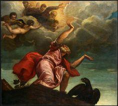 TIZIANO SAINT JOHN THE EVANGELIST ON PATMOS C 1547 NGW. Тициан (Тициано Вечеллио)