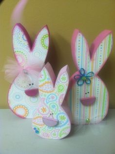 April & Easter Wood Crafts – New & Unfinished