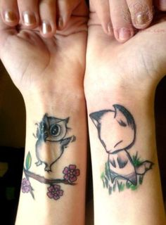 http://www.tattoostime.com/images/286/owl-and-fox-tattoos-on-wrist.jpg