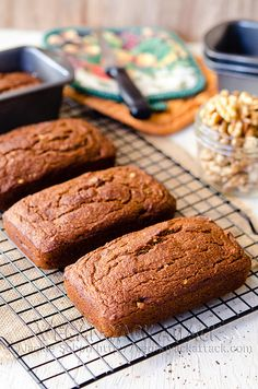 Pumpkin Banana Nut Bread #vegan