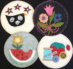 Sonhando, Vivendo e Aprendendo: Coasters e Mug Rugs